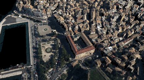 3D reconstruction of complex urban scenes using aerial imagery