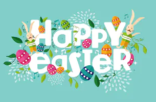 Wishing you a Blessed and a Happy Easter!